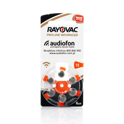 Bateria Rayovac typ 13 Proline Advanced - blister 6 szt.